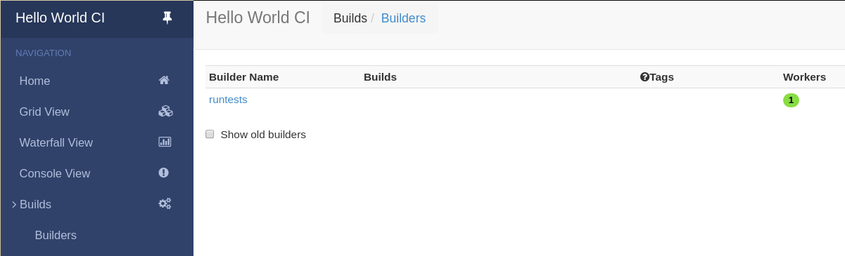 1 2  First Buildbot run with Docker — Buildbot 2 3 1 documentation